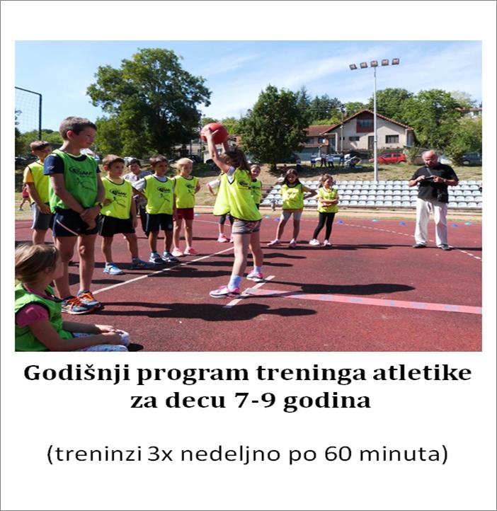 Godišnji program treninga atletike za decu 7-9 godina