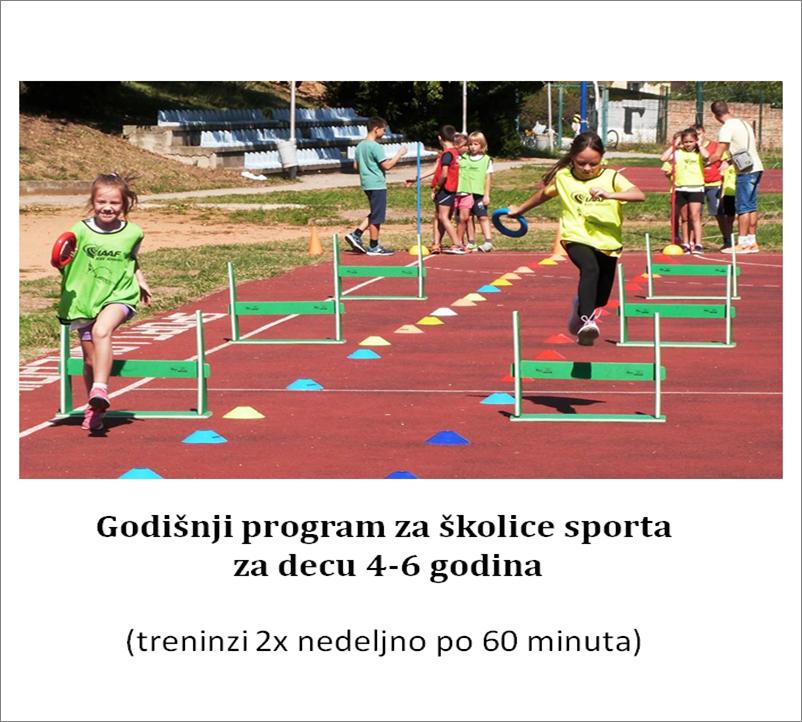 Godišnji program za školice sporta za decu 4-6 godina